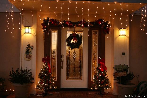 Front Door Holiday Lights