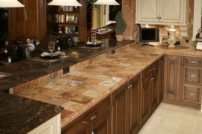 2017 tile countertop costs countertop prices. Black Bedroom Furniture Sets. Home Design Ideas