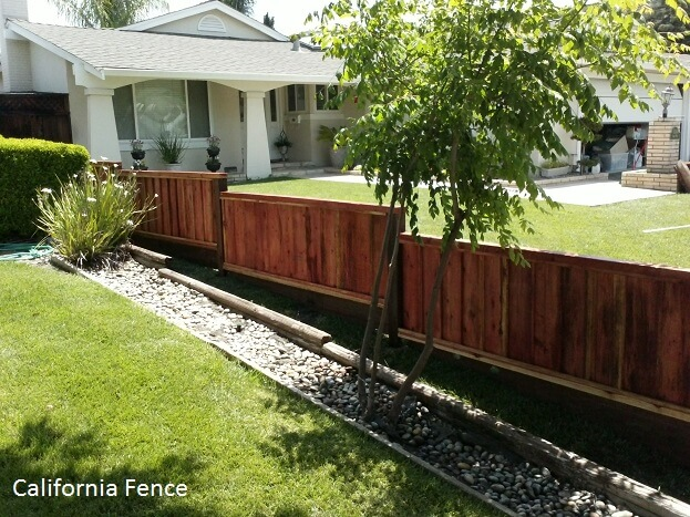 Staggered Wood Fence