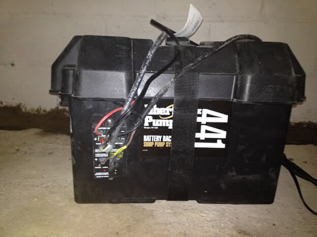 Battery Back-up In Waterproofing Case