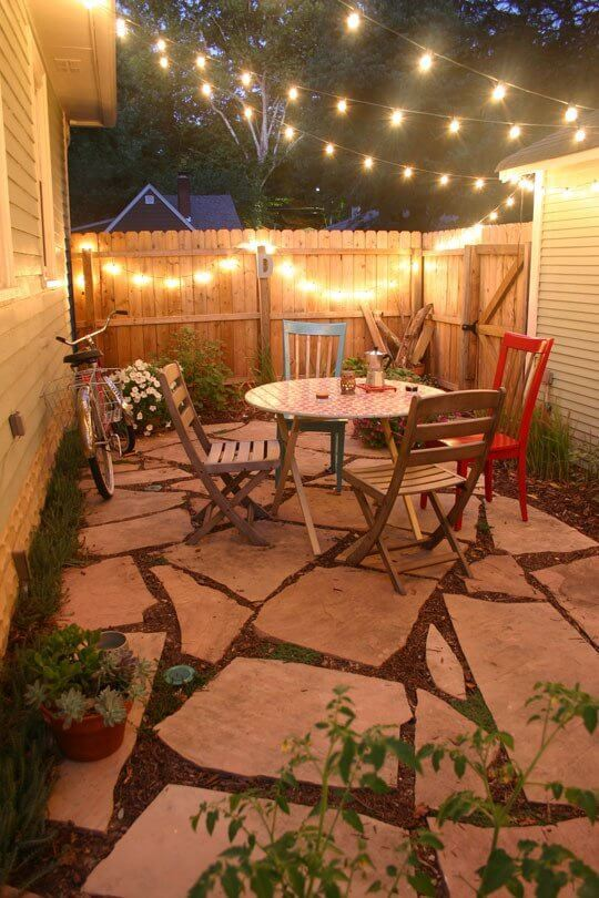 5 back porch ideas designs for small homes for Apartment yard design