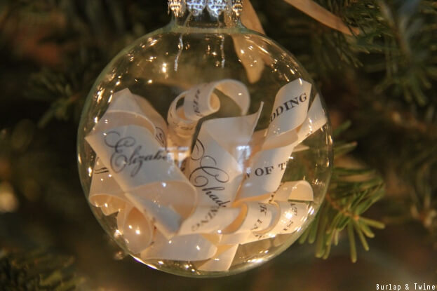 DIY Wedding Ornament