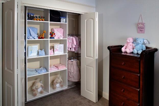 Organized Childrens Closet