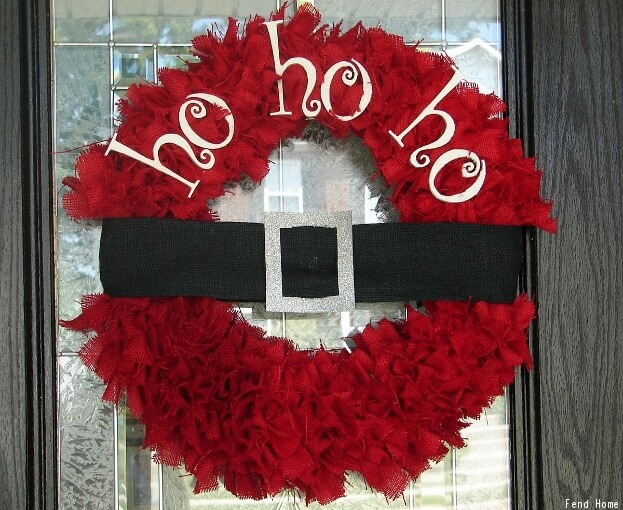 Santa Door Decor