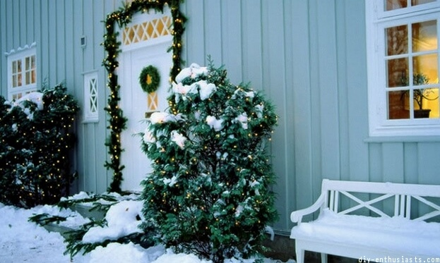 Snow Covered Decor