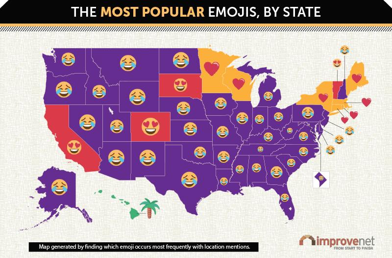 Most Popular Emoji By State