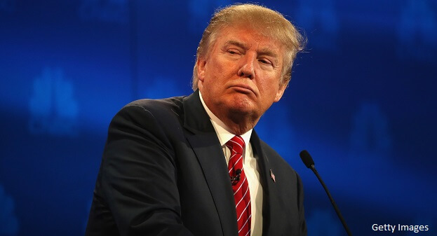 Trump Frowning