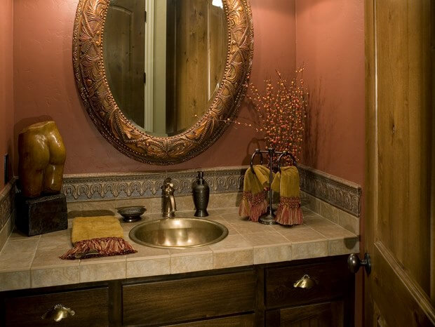 Guest bathroom ideas powder room d cor guest bathroom for Fall bathroom sets