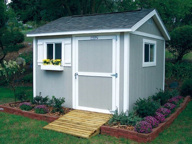 Outdoor storage sheds the perfect solution to little storage for Backyard garages