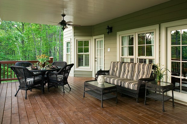 Brick Patio Or Wood Deck