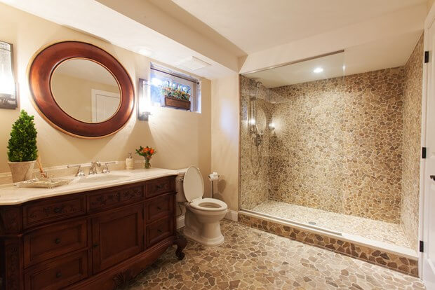 basement bathroom design | bathroom plumbing