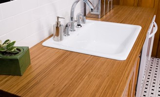 Attractive ... Sustainable Countertop Materials : Bamboo Kitchen Countertop Cost  Options Pros Cons ...