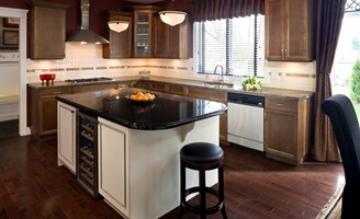 Types Of Kitchen Countertops And Prices : honed granite counters are produced by taking a rough slab of granite ...