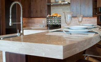 Honed Countertop Materials : 2017 Limestone Countertops Cost Installation, Advantages