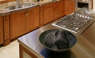 Countertop Types Cost : 2017 Stainless Steel Countertops Cost Types of Finishes Grades