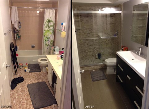 My small bathroom remodel recap costs designs more for Average cost for small bathroom remodel