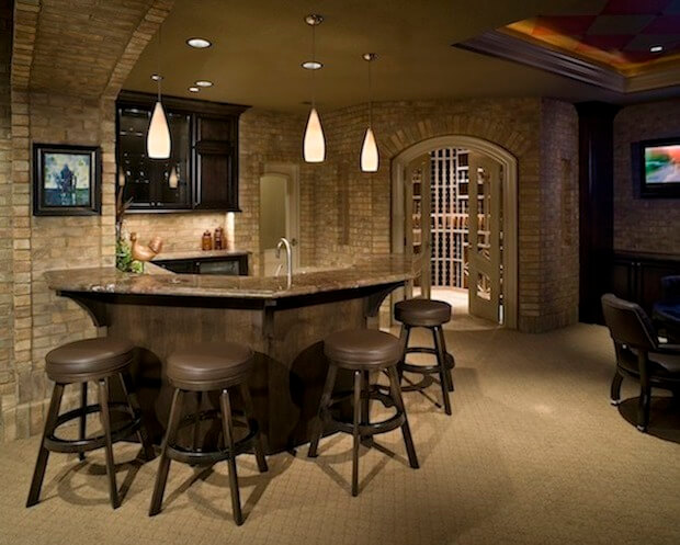 10 man cave essentials how to create the ultimate man cave for Cost to build a bar in basement