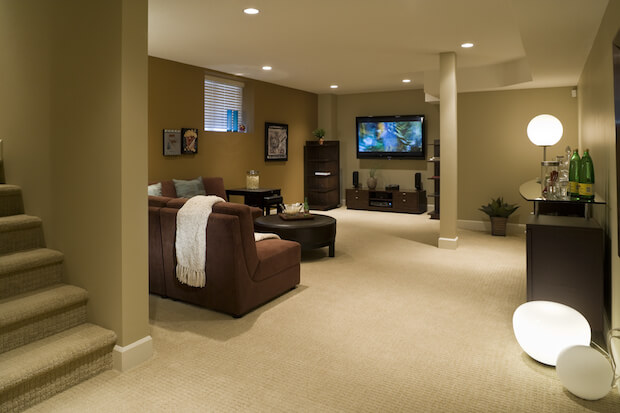 7 awesome basement remodels pictures. Black Bedroom Furniture Sets. Home Design Ideas