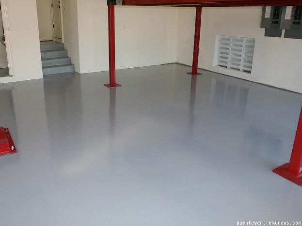 Gray Basement Floor