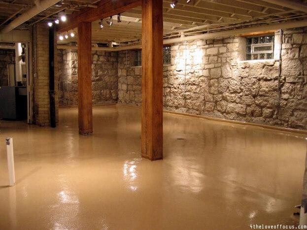 Rustic Basement Floor