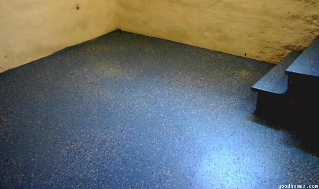 Speckled Basement Floor