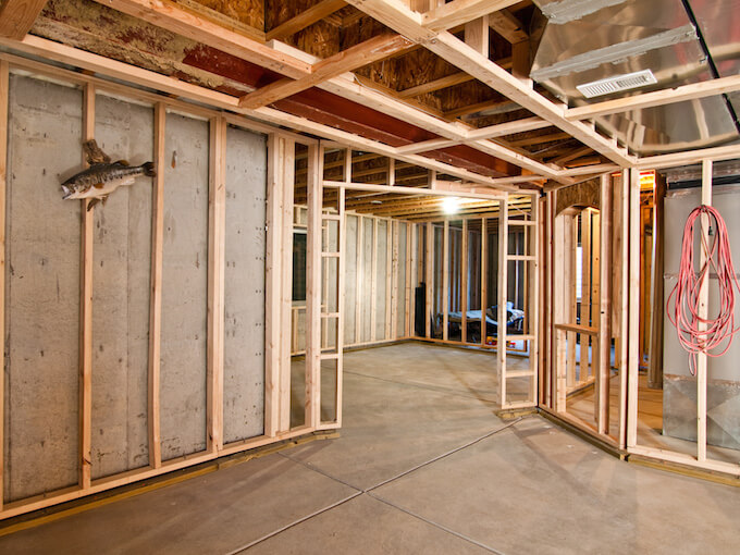 2017 basement framing cost how to frame a basement wall for Framing interior basement walls