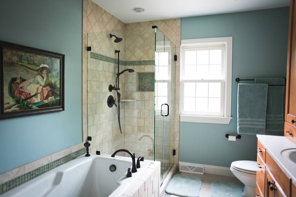 Amazing  Shower Tiles Countertops And Basketweave Flooring Add To The Cost Of