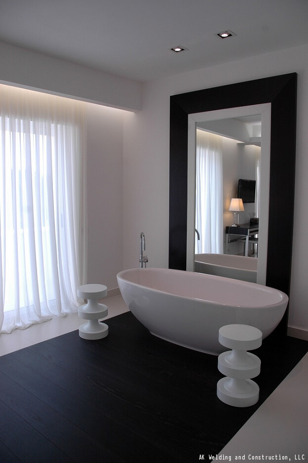 How to decorate your bathroom using black white - How to decorate your bathroom ...