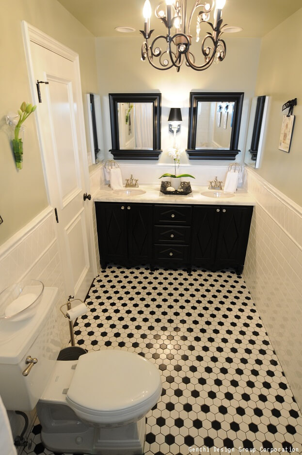 How To Decorate Your Bathroom Using Black White
