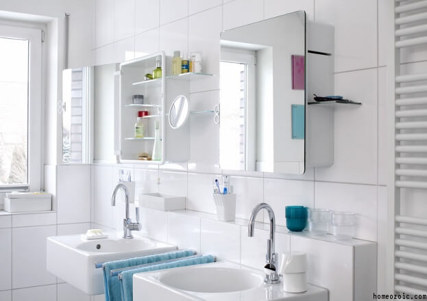 Light Bathroom Mirror Cabinets