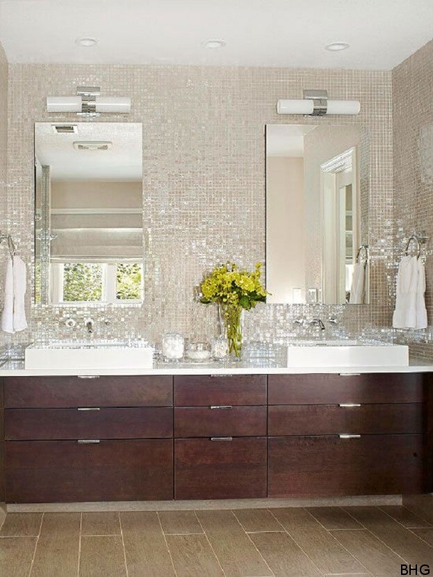 Stunning bathroom backsplash ideas bathroom remodel for Images of bathroom backsplashes