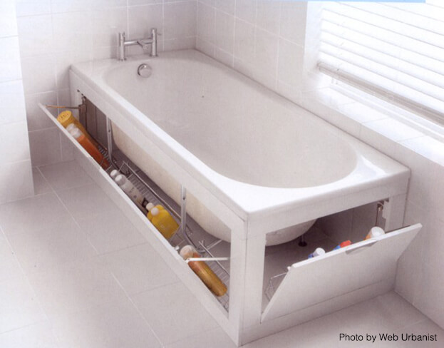 Small Bath Storage Tub Storage