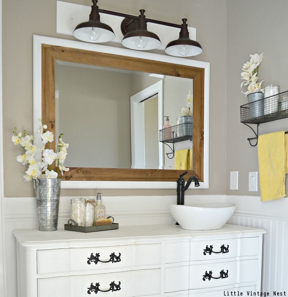 vintage bathroom vanity and mirror - Vintage Bathroom Vanity