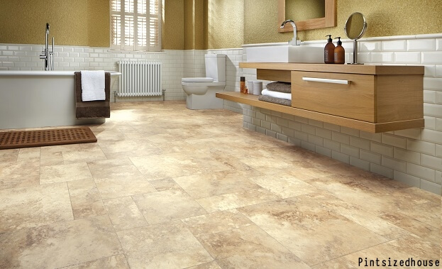 6 bathroom floor trends that really shine remodeling for Good linoleum flooring