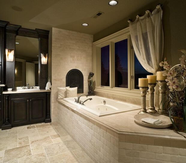 Brick Tub Master Bath