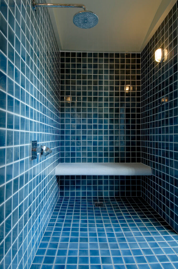 Regrouting shower tile floor