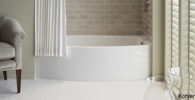 Kohler Tub And Shower : Soaker Tubs Designed for Small Bathrooms Small Bath Remodel