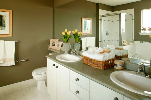 recessed lighting is the best choice for a small bathroom
