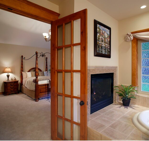 Bathroom French Door