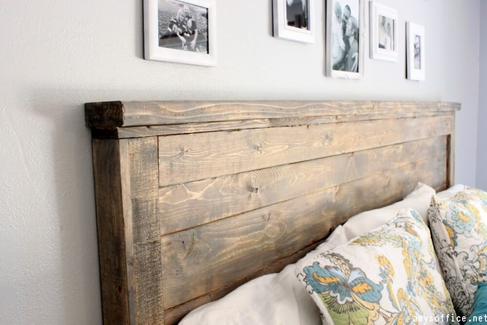 Diy headboard ideas diy headboard diy wood headboard for Makeshift headboard