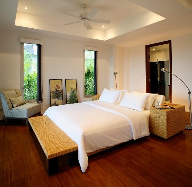 Modern Hardwood Bedroom