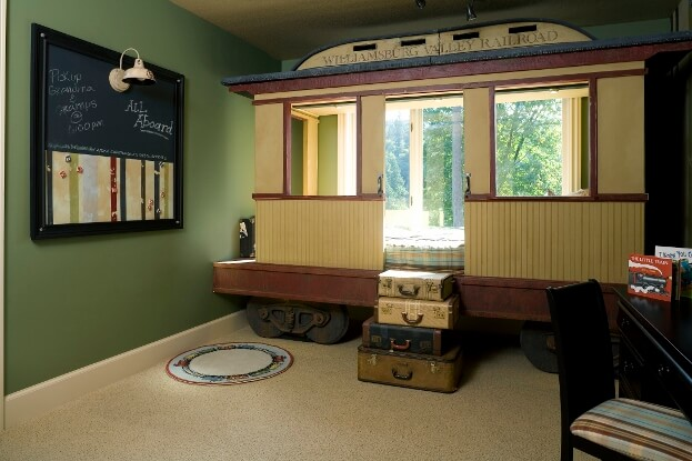 Train Themed Childs Room