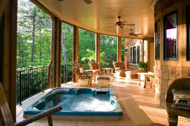 Backyard Deck Spa