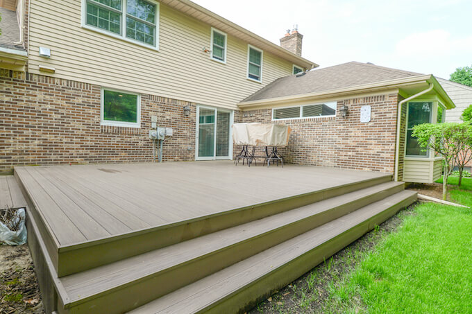 2017 composite decking prices cost of composite decking for Building a composite deck