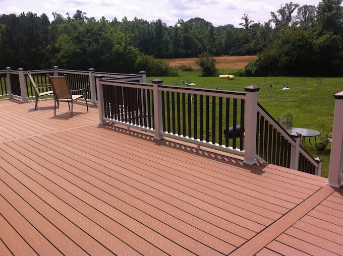 Large Deck Boards ~ Trex decking prices average deck cost per