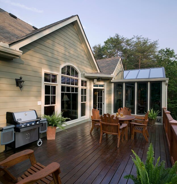 How much does it cost to build a deck deck restore for Custom home plans with cost to build
