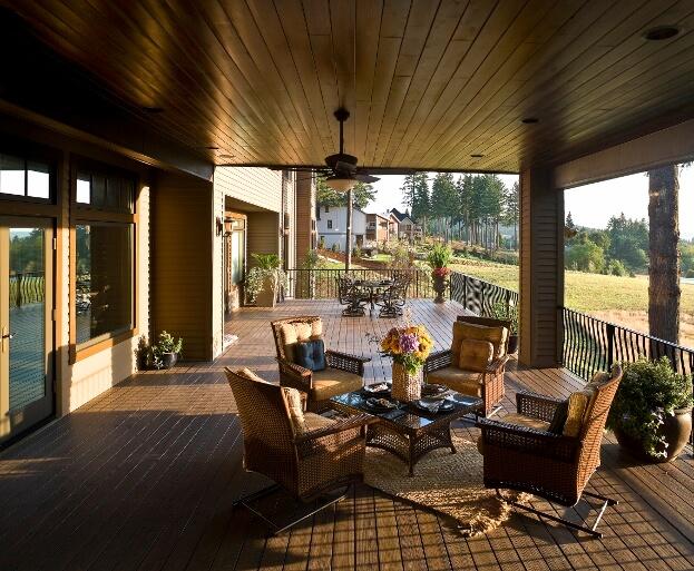 Stylish Backyard Deck