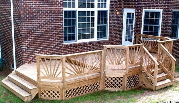 Wooden Deck Railing