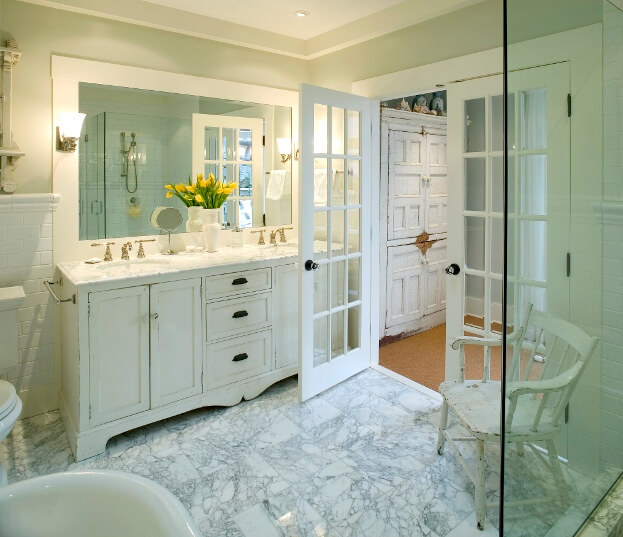Bathroom French Doors