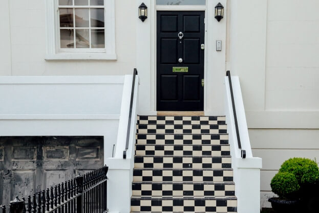 Black And White Entryway